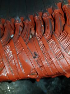 Electric motor stator winding insulation failure